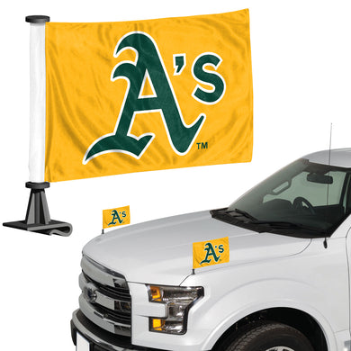 oakland athletics car flag,  oakland a's car flag