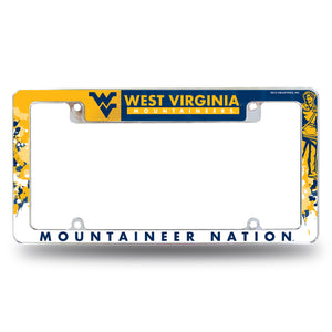 "West Virginia Mountaineers ""Mountaineer Nation"" License Plate Frame"