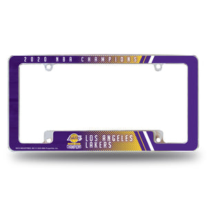 Los Angeles Lakers 2020 NBA Champs Color Chrome License Plate Frame EZ View