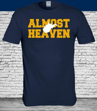 West Virginia Mountaineers Almost Heaven Navy Shirt