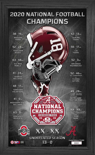 Alabama Crimson Tide CFP National Champions Team Pride Pano
