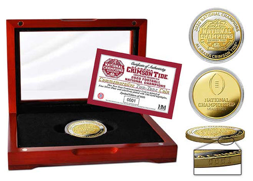 Alabama Crimson Tide 2020 CFP National Champions Two-Tone Mint Coin
