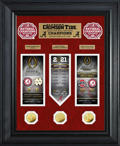 Alabama Crimson Tide 2020 CFP National Champions Deluxe Gold Coin Road to The Championship Photo Mint