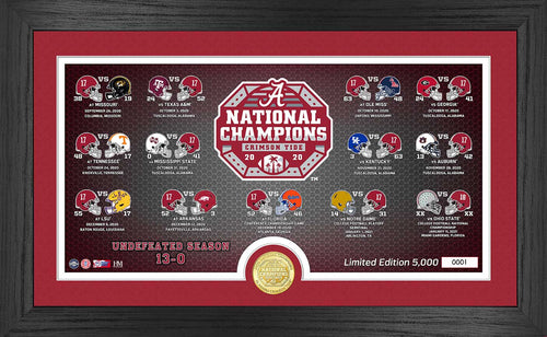 Alabama Crimson Tide CFP National Champions Panoramic Photo Mint