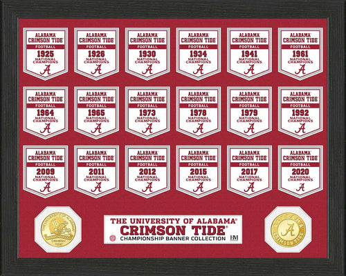 Alabama Crimson Tide 2020 CFP National Champions Banner Bronze Coin Photo Mint