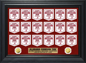Alabama Crimson Tide 2020 CFP National Champions Gold Coin Deluxe Banner Collection