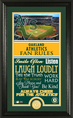 Oakland Athletics Fan Rules Supreme Bronze Coin Photo Mint
