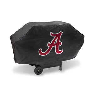 "NCAA fan gear Alabama crimson ""A"" black grill cover from Sports Fanz"