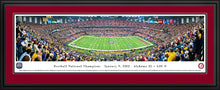 NCAA memorabilia Alabama framed double crimson matte 2012 BCS panorama from Sports Fanz
