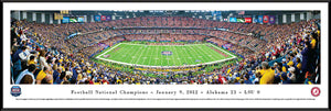 Football memorabilia Alabama Crimson Tide framed 2012 BCS panorama from Sports Fanz