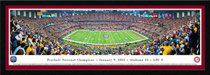 NCAA memorabilia Alabama Crimson Tide framed crimson matte 2012 BCS panorama from Sports Fanz