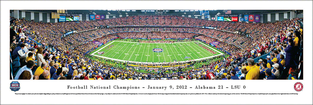 Football memorabilia Alabama Crimson Tide unframed 2012 BCS panorama from Sports Fanz