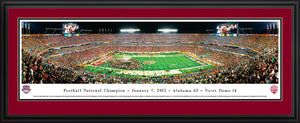 Alabama Crimson Tide 2013 BCS National Champions Panoramic Picture