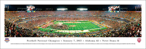 Football memorabilia Alabama Crimson Tide unframed 2013 BCS panorama from Sports Fanz