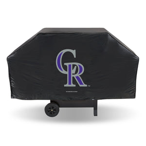 Colorado Rockies Black Economy Grill Cover