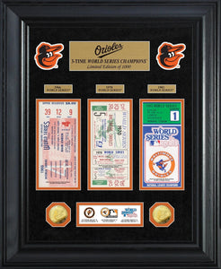 Baltimore Orioles World Series Deluxe Gold Coin & Ticket Collection