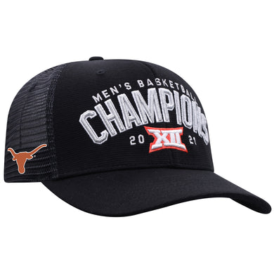 Texas Longhorns 2021 Big 12 Basketball Tournament Champions Locker Room Hat