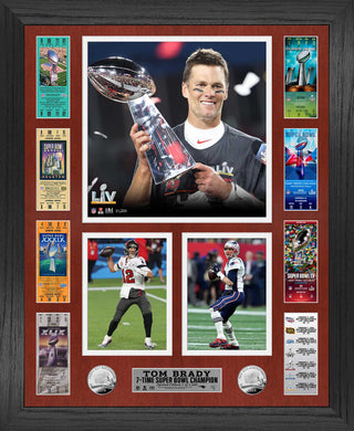 Tom Brady 7 Time Super Bowl Champion Ticket Photo Mint