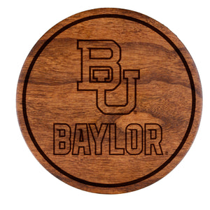 Baylor Bears Cherry Coaster Set - Block BU