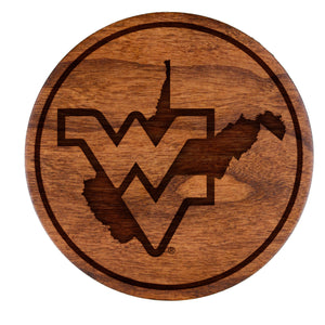 West Virginia Mountaineers Cherry Coaster Set