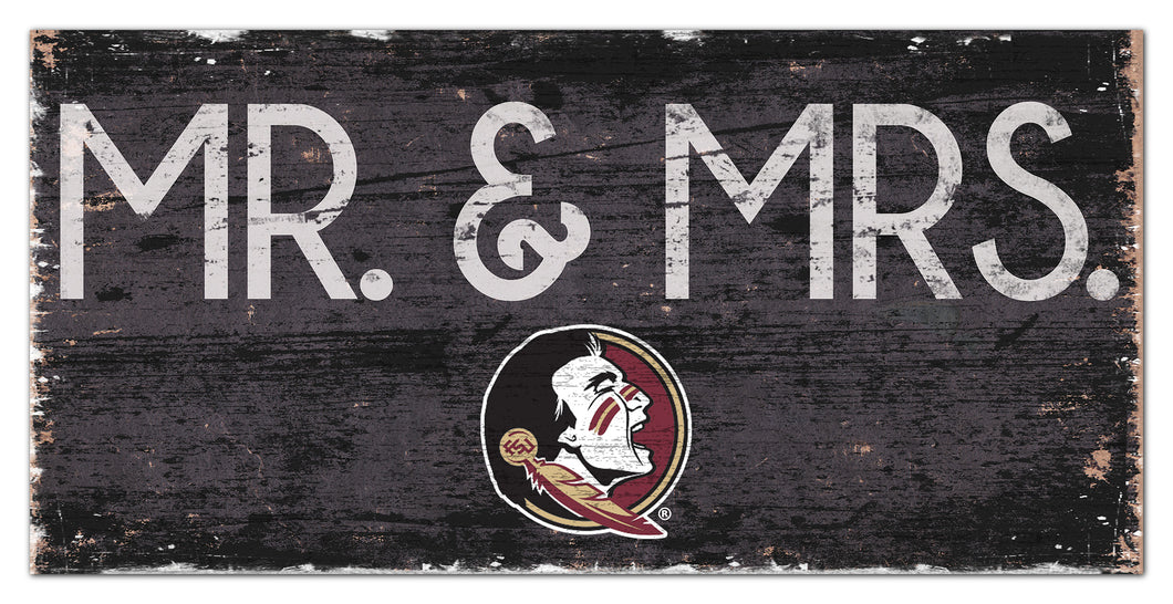 Florida State Seminoles Mr. & Mrs. Wood Sign - 6