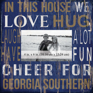 Georgia Southern Eagles In This House Picture Frame