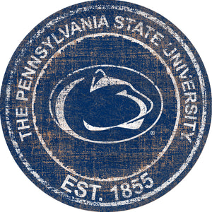 Penn State Nittany Lions Heritage Logo Round Wood Sign - 23.5""