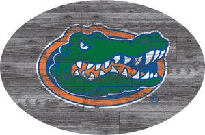 Florida Gators Distressed Wood Oval Sign