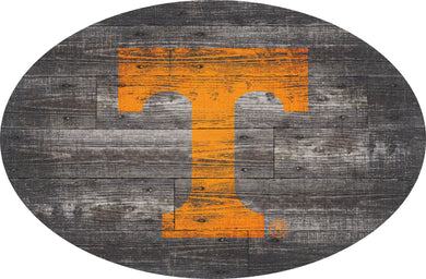 Tennessee Volunteers Distressed Wood Oval Sign
