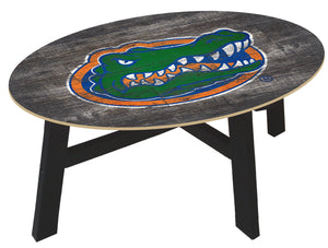 Florida Gators Distressed Wood Coffee Table