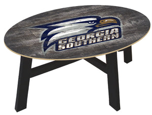 Georgia Southern Eagles Distressed Wood Coffee Table