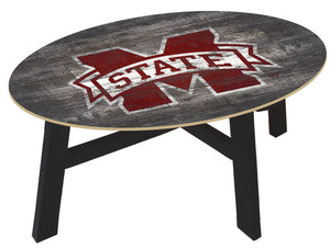 Mississippi State Bulldogs Distressed Wood Coffee Table