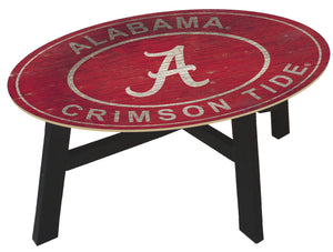 Alabama Crimson Tide Heritage Logo Wood Coffee Table
