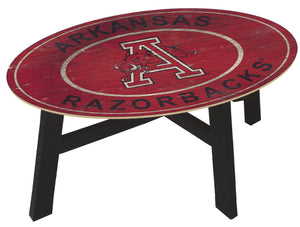 Arkansas Razorbacks Heritage Logo Wood Coffee Table