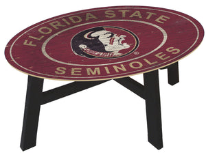 Florida State Seminoles Heritage Logo Wood Coffee Table