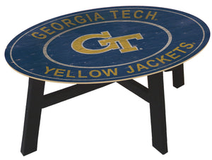 Georgia Tech Yellow Jackets Heritage Logo Wood Coffee Table