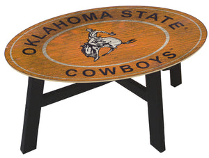 "Show your team spirit by displaying their logo on your coffee table. Table is made of medium density fiberboard with glass over the wooden top. Some assembly required. Dimensions are 30"" W x 46"" L x 19.5"" H.  Details:  46'' W x 19.5'' H x 30'' D Birch wood / medium-density fiberboard / glass Orders over $100 receive FREE Shipping !"