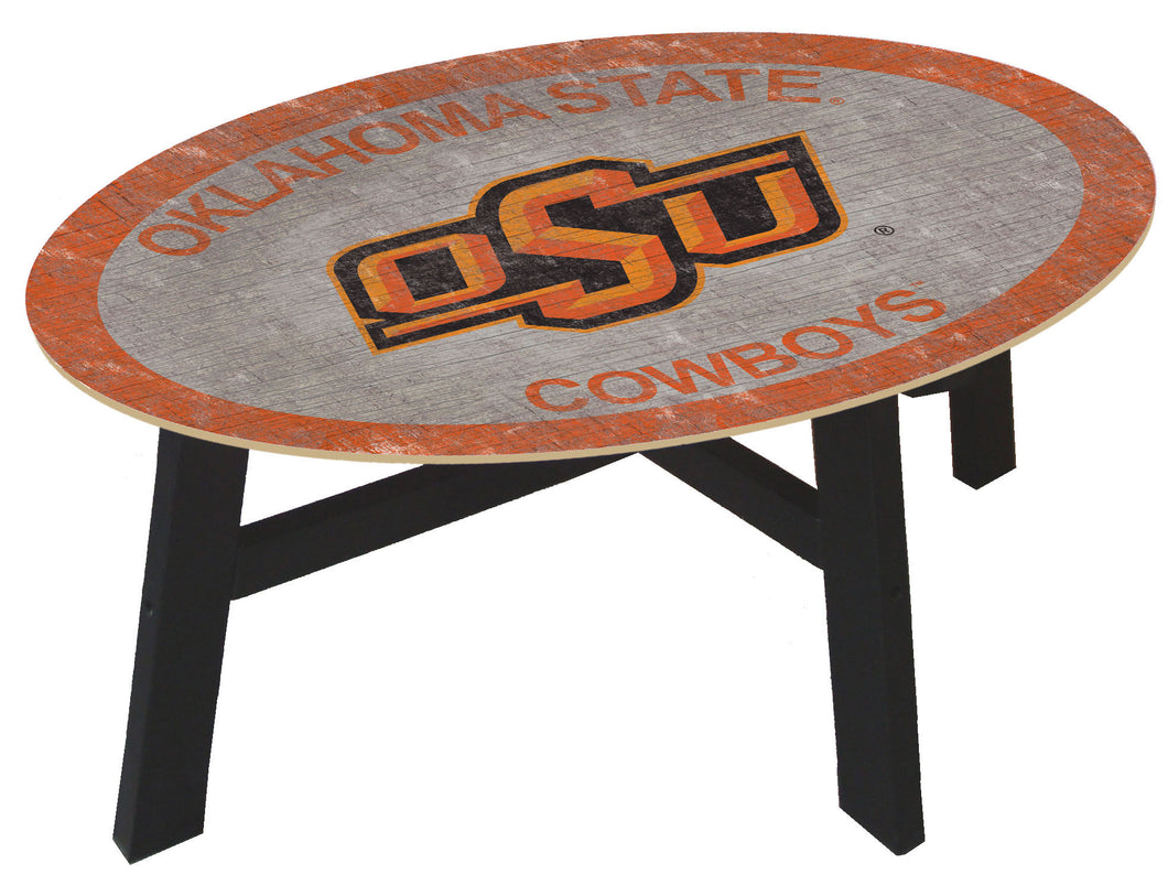 Oklahoma State Cowboys Color Logo Wood Coffee Table