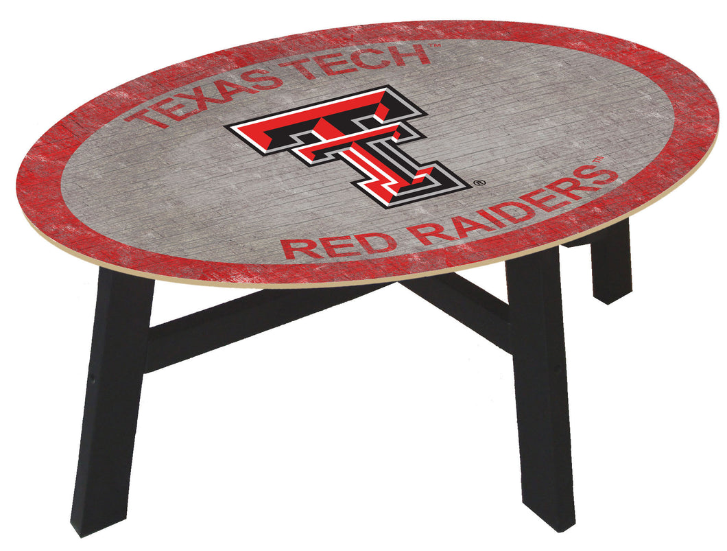 Texas Tech Red Raiders Color Logo Wood Coffee Table
