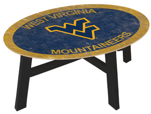 West Virginia Mountaineers Color Logo Wood Coffee Table