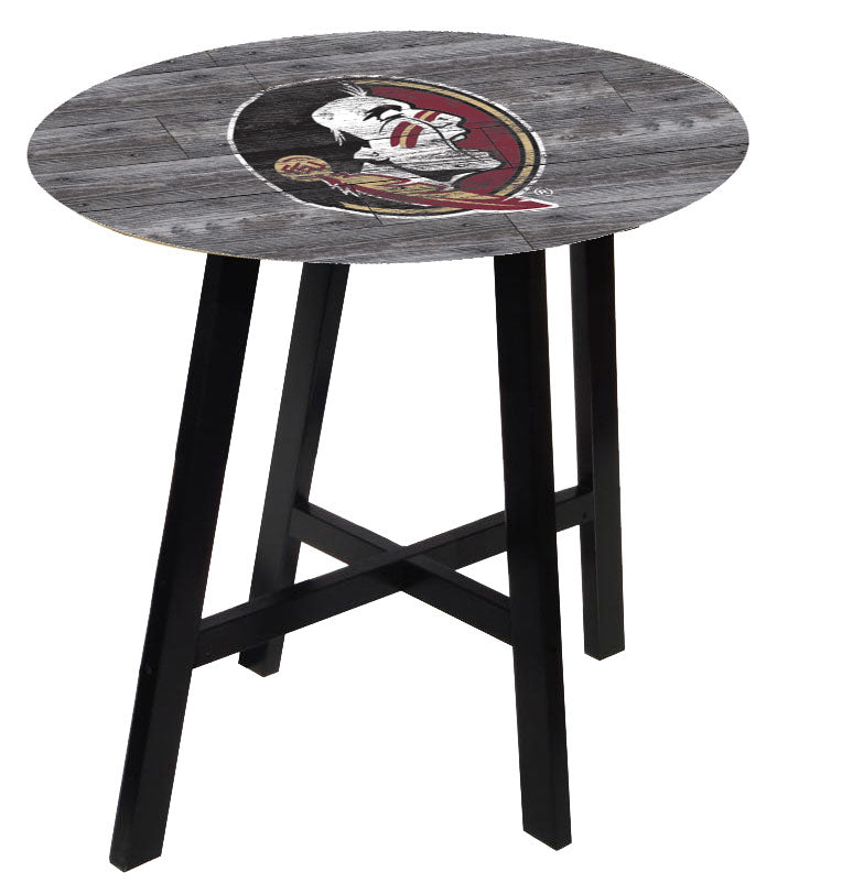 Florida State Seminoles Distressed Wood Pub Table