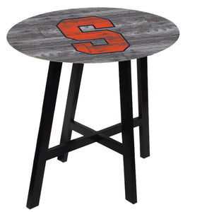 Syracuse Orangemen Distressed Wood Pub Table