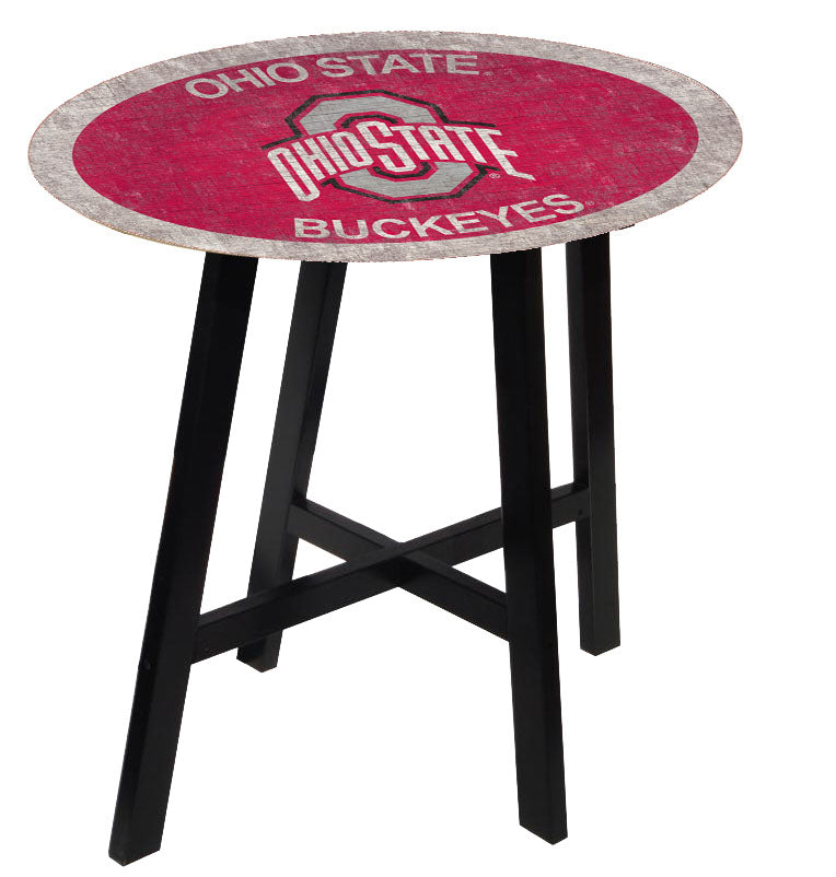 Ohio State Buckeyes Team Color Pub Table