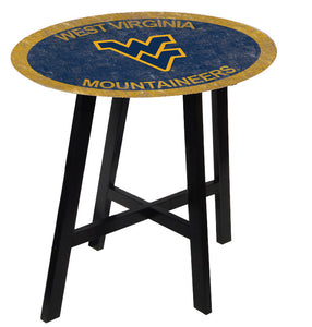 West Virginia Mountaineers Team Color Pub Table