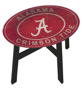 Alabama Crimson Tide Heritage Logo Side Table