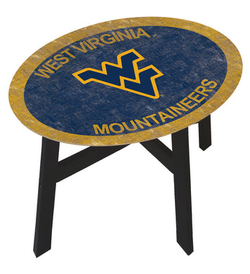 West Virginia Mountaineers Color Logo Wood Side Table
