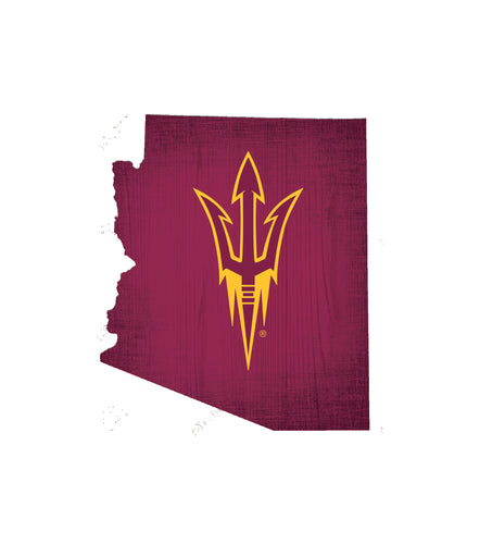 Arizona State Sun Devils State Wood Sign