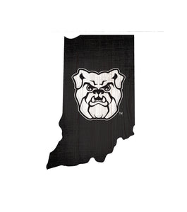 Butler Bulldogs State Wood Sign