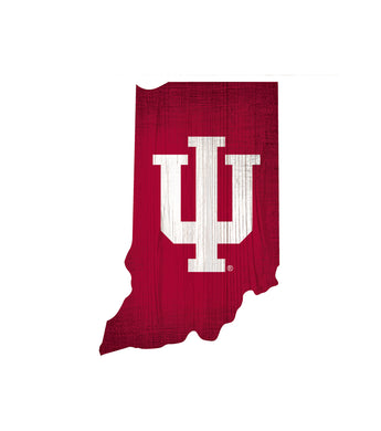 Indiana Hoosiers State Wood Sign