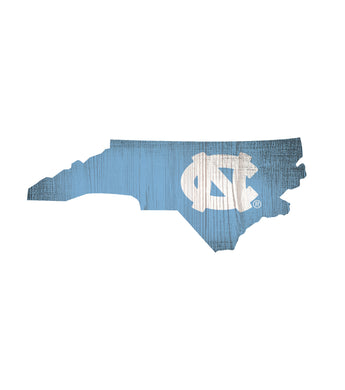 North Carolina Tar Heels State Wood Sign